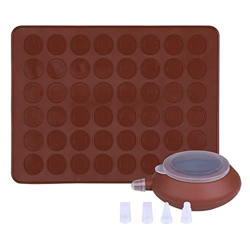 GARCENT Macaron Silicone Mat, Non-Stick Silicone Macaron Baking Mold Set, 48 Capacity Macaroon Kit with Cake Decorating Supplies