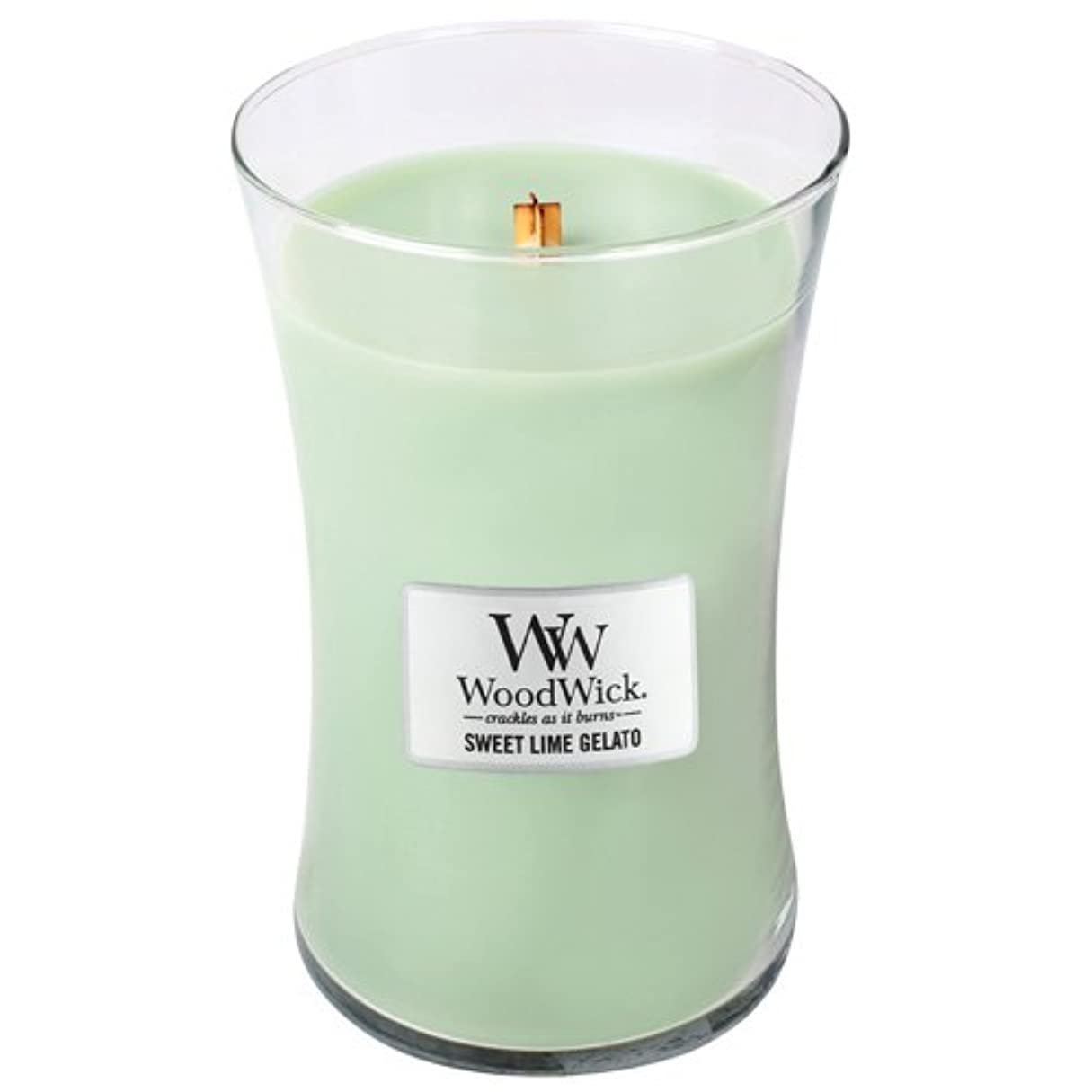 干ばつレモン抗議WoodWick Sweet Lime Gelato Large Jar Scented Candle