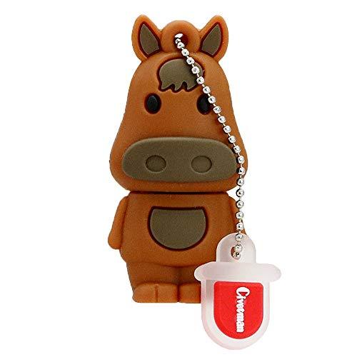 Chiavetta USB 2.0 da 64 GB 12 Zodiaco cinese a forma di cavallo Animale Pendrive Memory Flash Stick Drive Thumb Stick Cartone animato Pendrive
