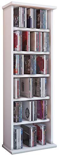 VCM - Torre para CD/DVD, color blanco ('Vostan blanco'), para 150 CDs