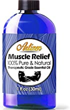 Artizen Muscle Relief Essential Oil (100% PURE & NATURAL - UNDILUTED) Therapeutic Grade - Huge 1oz Bottle - Perfect for Aromatherapy, Relaxation, Skin Therapy & More!