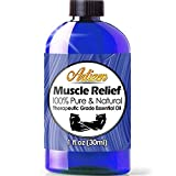 Artizen Muscle Relief Essential Oil (100% PURE & NATURAL - UNDILUTED) Therapeutic Grade - Huge 1oz...