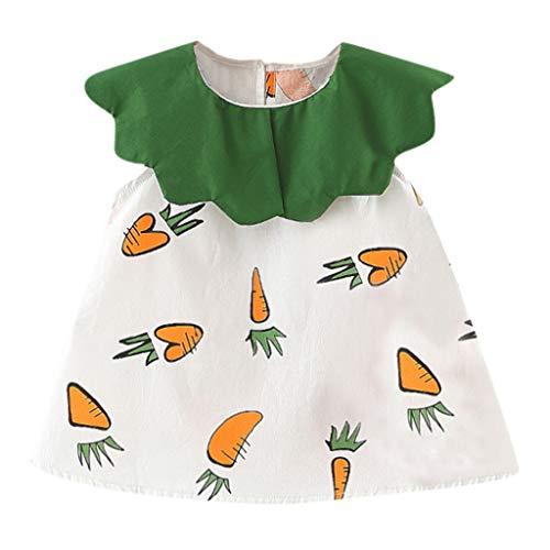 Moneycom - Vestido corto de princesa para bebé, niña o niña, diseño de zanahorias naranja 6-12 Meses