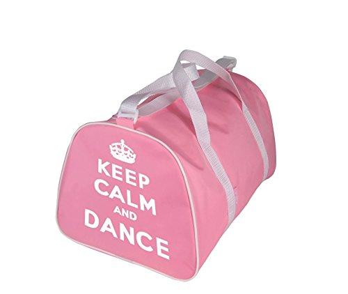 KEEP CALM AND DANZA Borsa Borsone per ballerina in rosa, Rosso, nere o blu - Rosa - Keep Calm and Danza