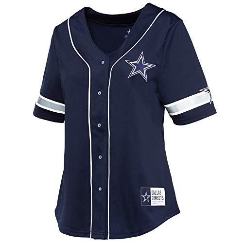 NFL Dallas Cowboys Womens Lorde Fashion Jersey, Navy, Medium
