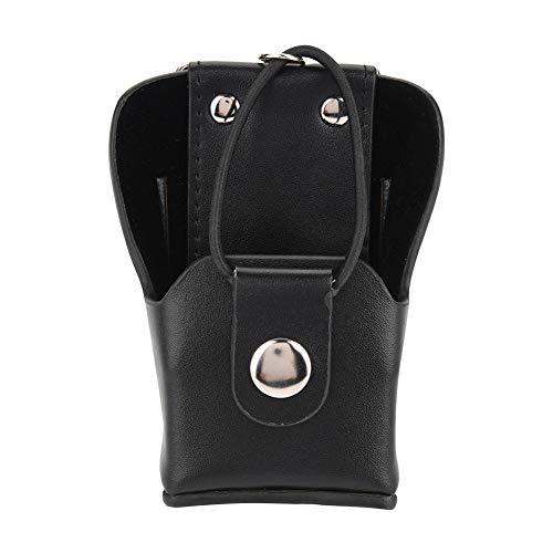 Bewinner Leather Radio Bag Ledertasche für Motorola GP328plus / GP338plug / GP344 / GP388 Walkie-Talkie-Radio mit Lanyar-Funkgerätetui Rückenklammer PU-Leder Walkie Talkie-Tragetasche