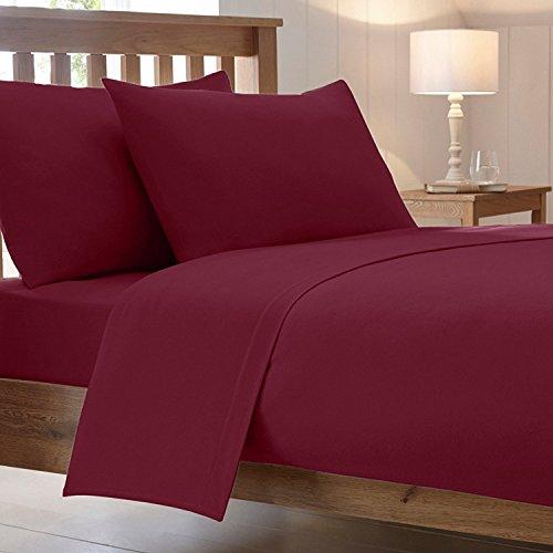 40 cm / 16 inch extra diep luxe gekamd polykatoenen bed hoeslaken niet-ijzeren percale effen beddengoed