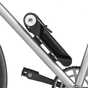 BIGLUFU Candado plegable para bicicleta, scooter, motocicleta, con 4 llaves, cadena plegable, resistente de aleación de acero con soporte de montaje, 2 correas de 86 cm, desplegables, 2 libras