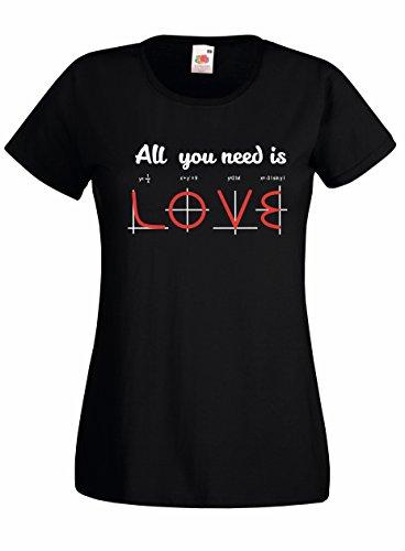 Settantallora - T-Shirt Maglietta Donna J2452 all You Need is Love Taglia M
