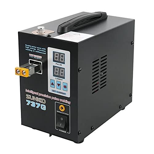 Riiai Doble pantalla digital soldador por puntos batería máquina de soldadura por puntos 737G batería de litio máquina de soldar doble pulso onda con alta energía