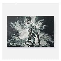 Suuyar クリスティアーノロナウドCr7キャンバスウォールアートデコレーションプリントリビングキッドチルドレンルームホームベッドルームデコレーション絵画装飾-50X70Cmフレームなし