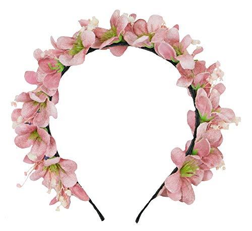 Trachtenland Blumen Haarreif Ranya - Rosa