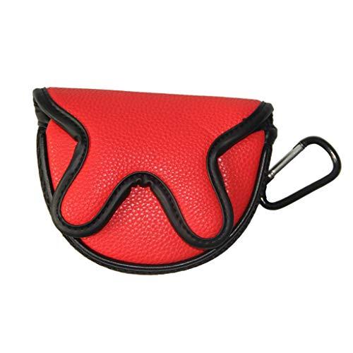 Toygogo Golf Putterhaube Putter Headcover Golfschläger Schutzhülle wasserdicht Schlägerhaube mit Klettverschluss - Rot