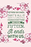 Fifteen Seconds Colleen Hoover Notebook: - Letter Size 6 x 9 inches, 110 wide ruled pages
