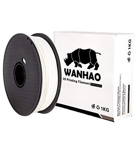 WANHAO PLA PREMIUM BIANCO 1KG/1,75mm - Filamento per stampante 3D FDM