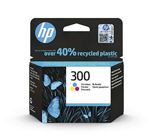 HP 300 CC643EE,Cartucho de Tinta Original Tricolor, Compatible con impresoras de inyección de tinta tinta HP DeskJet D2560, D2660, F4280, F4224, F4283; Photosmart Serie C