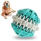 Kylewo Pelota de Juguete para Perros, Bola de alimentación para Perros con función de Cuidado Dental Dental para Perros Grandes Gato Cachorros pequeños y medianos Snack de Goma Natural