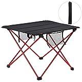 Mesa plegable multifuncional para exteriores, mesa plegable portátil, mesas de picnic para barbacoa, para acampar, 55,5x40 cm