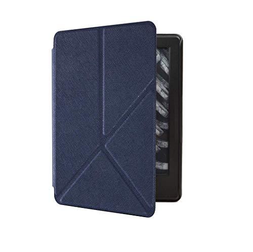 Capa Kindle Paperwhite 10ª geração à prova d'água - Função Liga/Desliga - Fechamento magnético - Origami - Azul Marinho