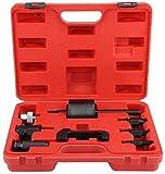 Ejoyous 8 piezas extractores de inyectores diésel, juego de herramientas Common Rail Inyector Extractor Diesel Puller Set encaja con caja