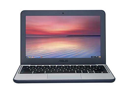 ASUS C202SA-GJ0027 11.6 Inch Notebook - (Dark Blue) (Intel Celeron N3060 Processor, 2 GB RAM, 16 GB eMMC, Chrome OS)
