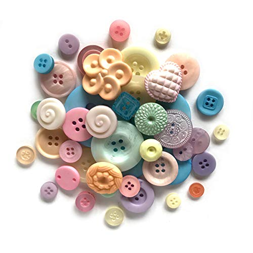 Buttons Galore GB116 Pastel Button Grab Bag with Craft and Sewing Buttons, 6-Ounce