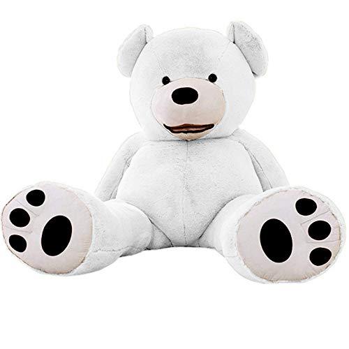 Nounours géant Ourson en Peluche Immense XXL Jouet pour Enfant Cadeau Extra Doux Mignon Anniversaire (Blanc, 130)