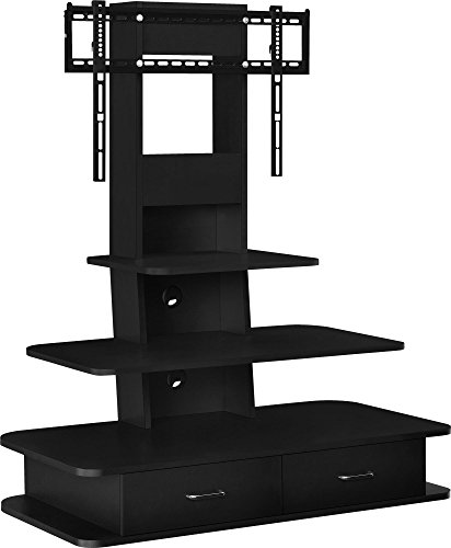 Ameriwood Home Galaxy TV Stand with Mount and Drawers for TVs up to 70' Wide, Black