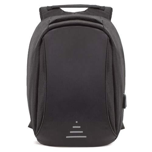 Mochila Seguridad Antirrobo con USB para Carga, Mochila de Viaje, Negocios o Estudiantes, Unisex Color Negro