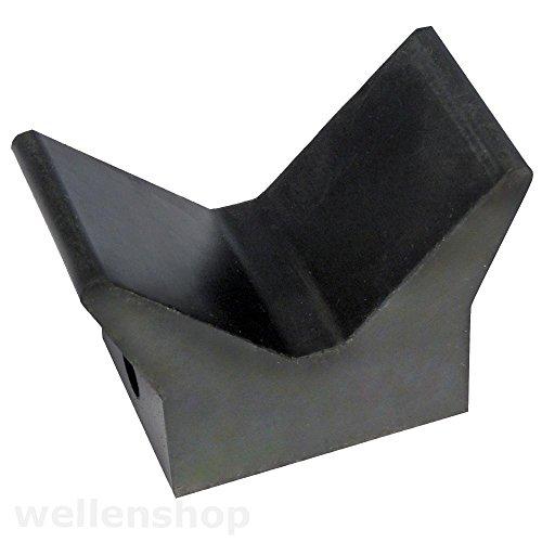 wellenshop Bugschutz Gummibugpuffer 100 x 75 mm für Bootstrailer
