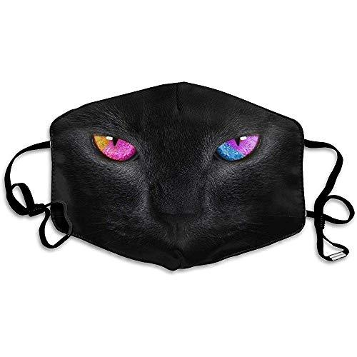 Unisexe Bouche Masques Populaire Chat Noir Couleur Yeux Anti Poussière Anti Pollution Polyester Moto Masque Visage Réutilisable