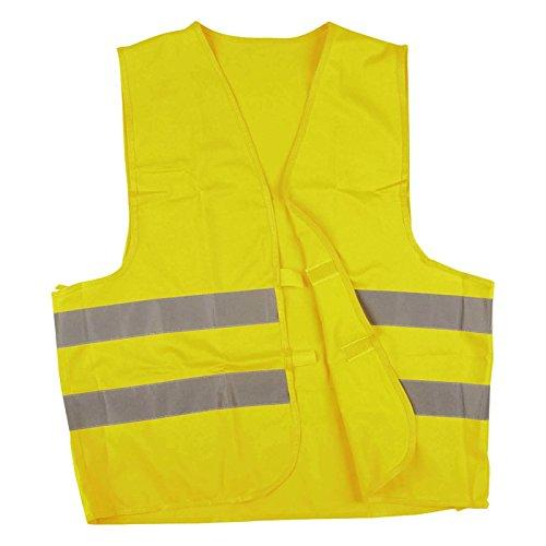 werkstatt-king.de Warnweste, Sicherheitsweste, Pannenweste mit Reflexstreifen EN ISO 20471-2 Farben in S, M, L, XL, XXL, XXXL - VPE = 3 Stück, Farbe:gelb, Größe:XXXL