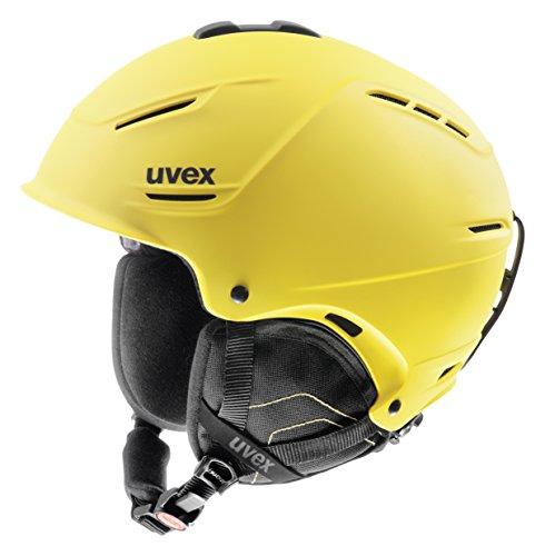 Uvex Unisex Skihelm p1us, yellow mat, 52-55 cm, 5661536003