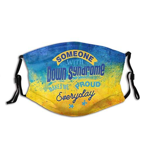 Classic World Down Syndrome Day Awareness Máscara de cinta amarilla, transpirable, para deportes al aire libre, cómodo, decorativo, lavable, reutilizable, pasamontañas unisex