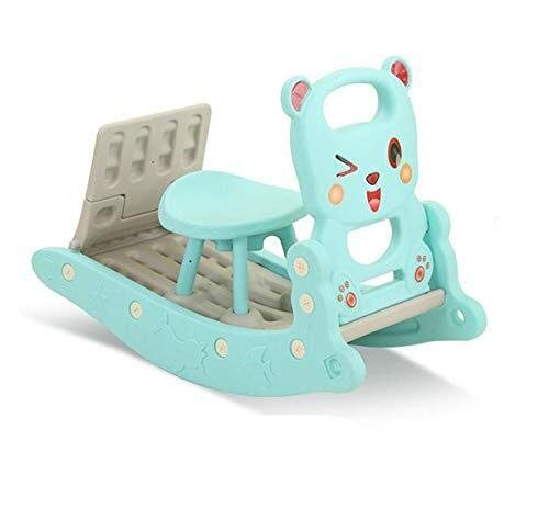 For Sale! RENKUNDE Rocking Chair Baby Shampoo Bed Children's Slide Three-in-one Baby Plastic Toy Roc...