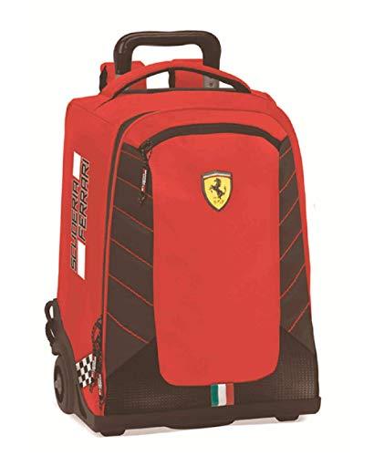 Ferrari Zaino Scuola Trolley Organizzato Scuderia Rosso 63185