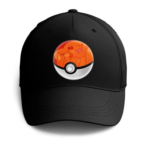 Okiwoki Casquette Noire Parodie Pokémon - La Poké Ball de Pikachu - Pika Pas Cool !(Casquette de qualité supérieure - Taille Unique Ajustable - imprimé en France)