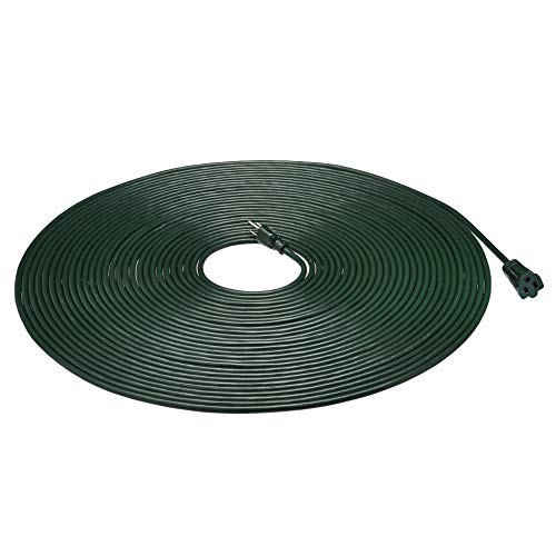 AmazonBasics 16/3 Vinyl Outdoor Extension Cord, Green, 100 Foot