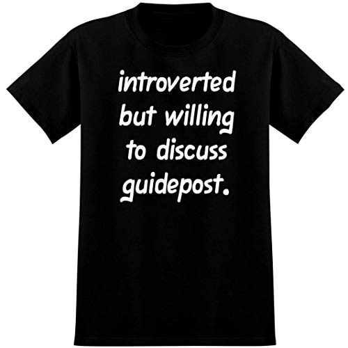 Introverted But Willing to Discuss guidepost - Soft Men's T-Shirt, Black, XX-Large