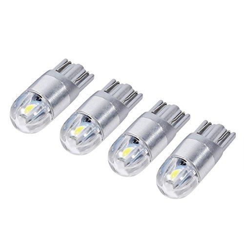 VGEBY 4 Pcs LED Ampoules Lampe Veilleuse Voiture Lumière Intérieure Feux De Gabarit Angle D'Eclairage 360° 12V DC T10 W5W 168