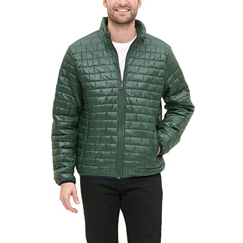 Tommy Hilfiger Men's Ultra Loft Sweaterweight Quilted Packable Jacket, Green, X-Large