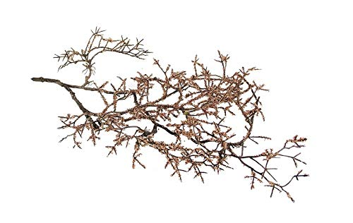 Deko-Zweig Mistelzweig in rosé-Gold Kupfer Blätter-Girlande Blumen-Deko Kunst-Blumen Weihnachts-Deko Raum-Dekoration Herbst Winter & Advent