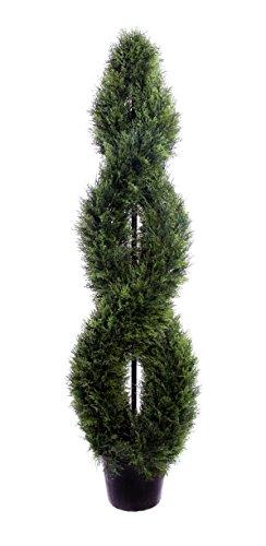 Best Artificial - Albero topiario a Spirale in Cedro, 150 cm