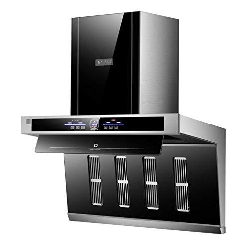 Equipamiento Cocina Campana extractora Pantalla táctil y Control somatosensorial Iluminación activada 26m sup3; / min Extractor autolimpiante Negro