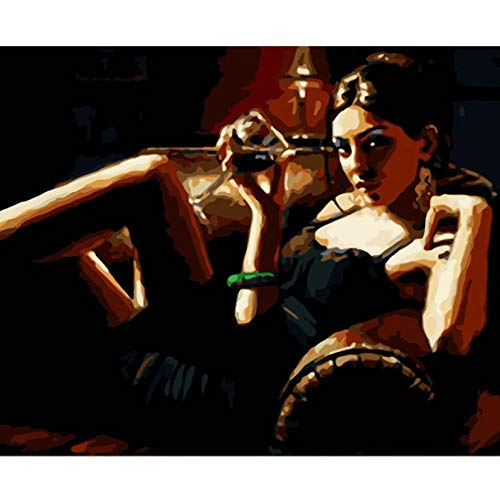 Diy Pintura Al Óleo Digital -seductora sofa belleza - Digital Pintura Al Óleo Regalo Para Adultos Niños Pintura Por Numero Kits