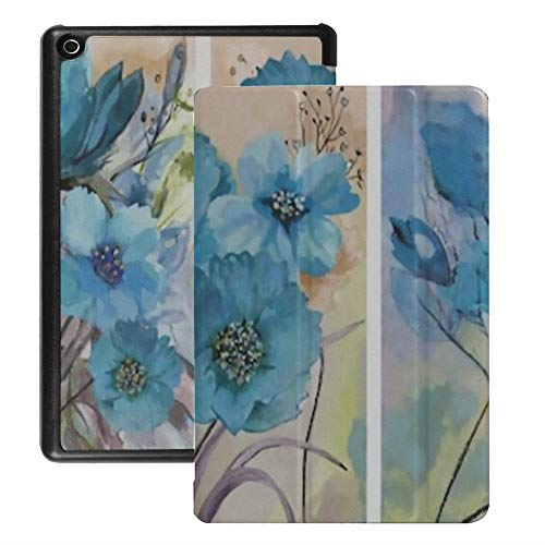 Case for Fire Hd 8 Tablet (2018/2017/2016 Release), Collection Designer Oil Paintings Decoration Interior Case Cover with Auto Wake/Sleep