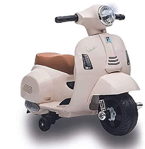 BIEMME LOGISTICA Moto Giocattolo per Bambini 2 Anni 3 Anni 1 Anno elettrica cavalcabile Vespa elettrica per Bambini 1 Anno 2 Anni Bianca