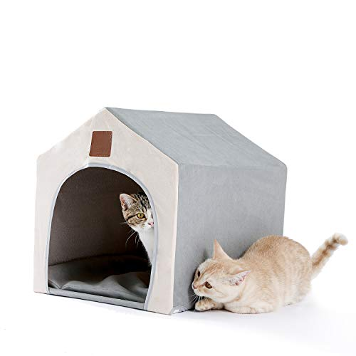 PAWZ Road Cama para Gatos, Cama para Perros, Nido para Mascotas, Cueva para Gatos, cálida, Suave, práctica, portátil, Plegable, Cama para Dormir para Gatos, casa para Perros al Aire Libre