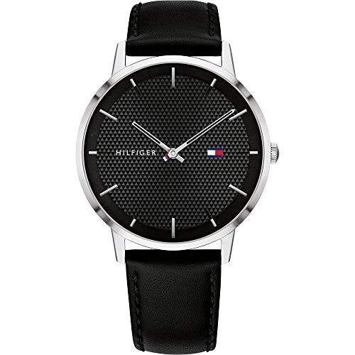 Tommy Hilfiger Reloj Analógico para Hombre de Cuarzo con Correa en Cuero 1791651