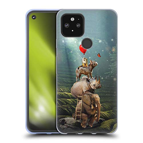 Head Case Designs Officially Licensed Klaudia Senator Friends Reaching Butterfly French Bulldog 2 Soft Gel Case Compatible with Google Pixel 5 5G
